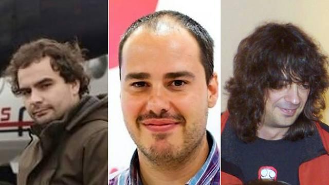 שלושת העיתונאים (צילום: AFP)