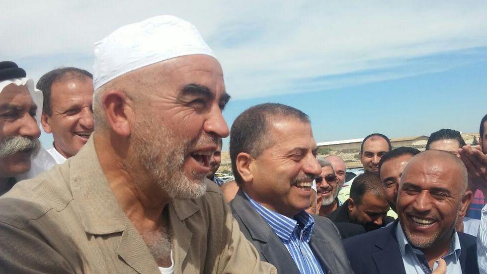 Raed Salah arrives in Be'er Sheva (Photo: Barel Ephraim)