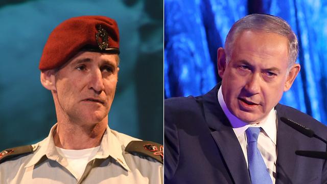Maj.-Gen. Yair Golan and Prime Minister Benjamin Netanyahu. (Dueling leaders. L-R: IDF Dep. Cghief of Staff Maj. Gen. Yair Golan,Prime Minister Benjamin)