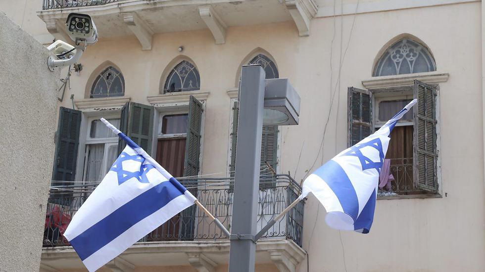 Flags in Tel Aviv (Photo: Motti Kimchi)