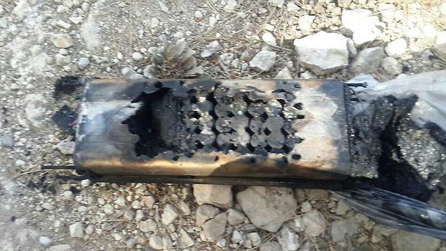 פיצוץ סוללת ליתיום באופניים חשמליים (צילום: כבאות והצלה מחוז ירושלים)