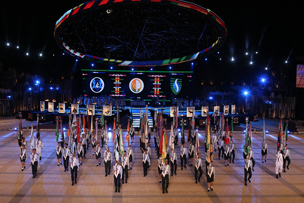 Rehearsals for Independence Day opening ceremony on Mount Herzl (Photo Gil Yohanan)