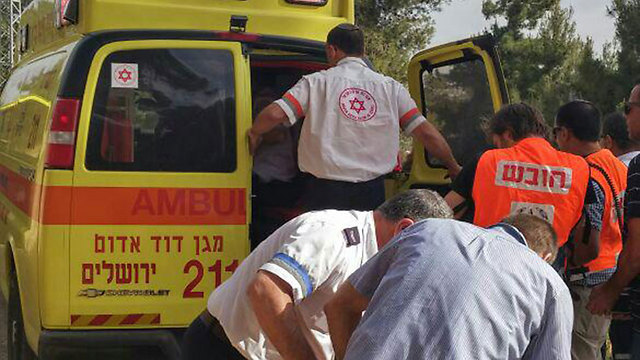 The victims being rushed to the hospital (Photo: MDA)