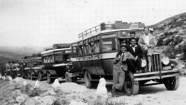 1935 - נסיעה מיוחדת לג'ראש, ירדן. טיול מאורגן מעבר לגדה המזרחית של הירדן לקבוצות מתיישבים בארץ ישראל (ארכיון אגד) (ארכיון אגד)