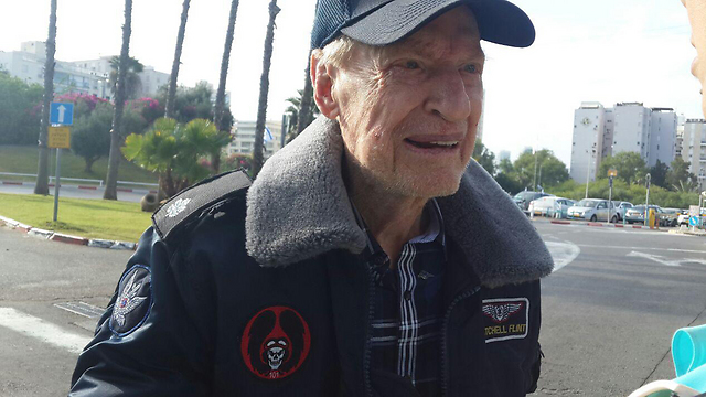 Mitchell Flint with his flight jacket