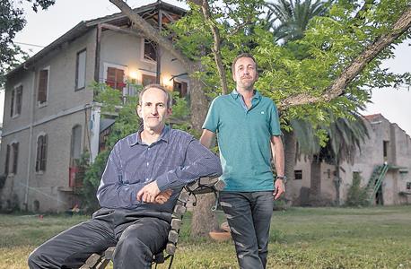 Gilad Japhet (seated), and Roi Mandel (Photo: Orel Cohen)