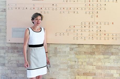 Nella Pantazi with her family tree (Photo: Roi Mandel)