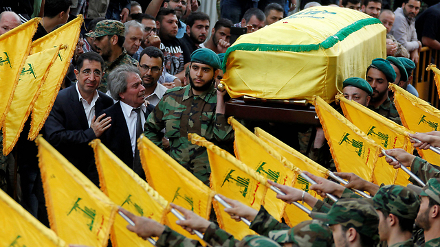 Badreddine's funeral, Friday. (Photo: Reuters)