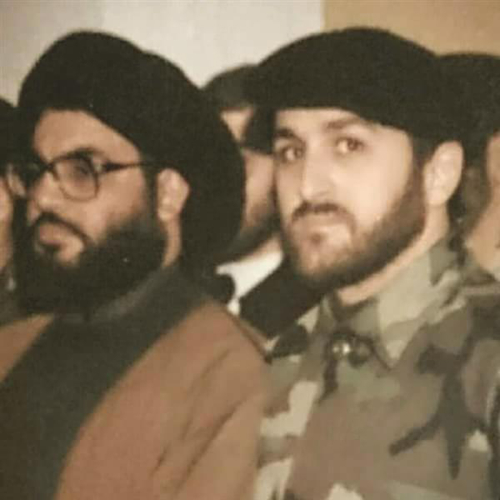 Badreddine, right, with Hezbollah leader Hassan Nasrallah.