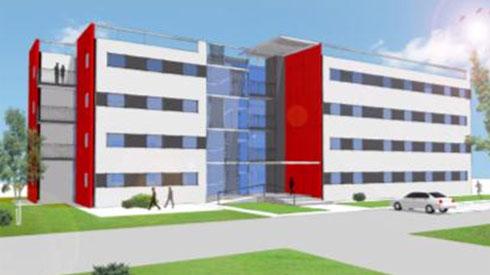 כמו בניין הייטק. המודלים החדשים של מגורים בבסיסי צה''ל (הדמיה: לוטן אדריכלים)