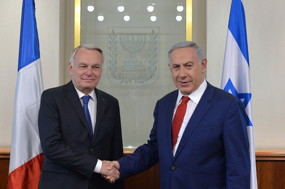 Ayrault and Netanyahu in Jerusalem, Photo: Kobi Gidon/GPO