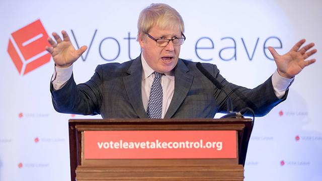 מוביל את קמפיין היציאה מהאיחוד האירופי. ג'ונסון (צילום: gettyimages) (צילום: gettyimages)