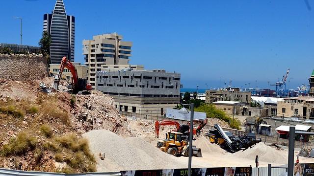 עבודות הבנייה בשכונת ואדי סאליב (צילום: דוברות עיריית חיפה) (צילום: דוברות עיריית חיפה)