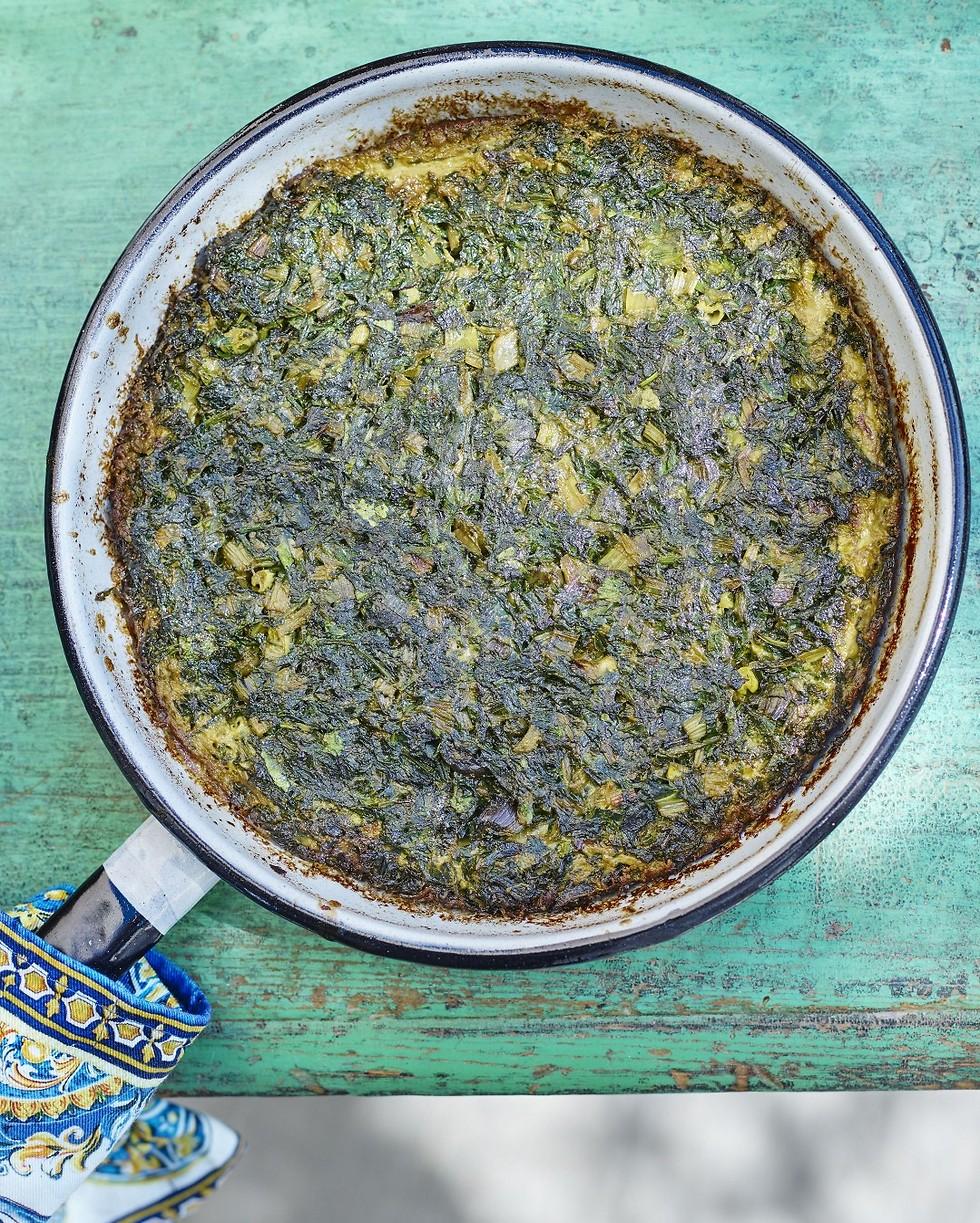 קוקו סבזי - פשטידת ירק (צילום: דן פרץ) (צילום: דן פרץ)