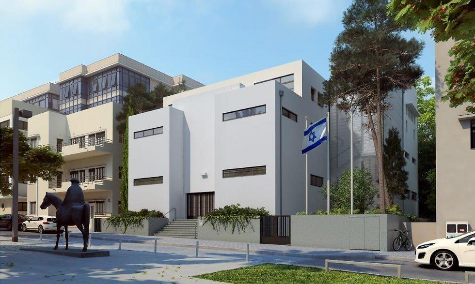 הדמיית בית העצמאות (באדיבות עיריית תל אביב) (באדיבות עיריית תל אביב)