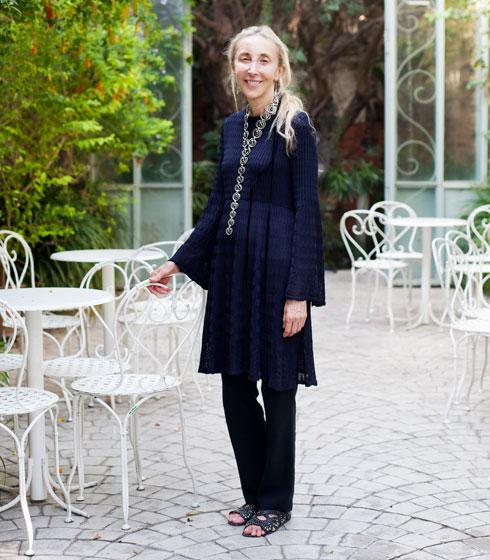 ניסחה בחזונה את מגזין ווג איטליה כפי שאנחנו מכירים אותו. האחות הגדולה קרלה סוזאני, כיום בעלת רשת קורסו קומו 10 (צילום: ענבל מרמרי)