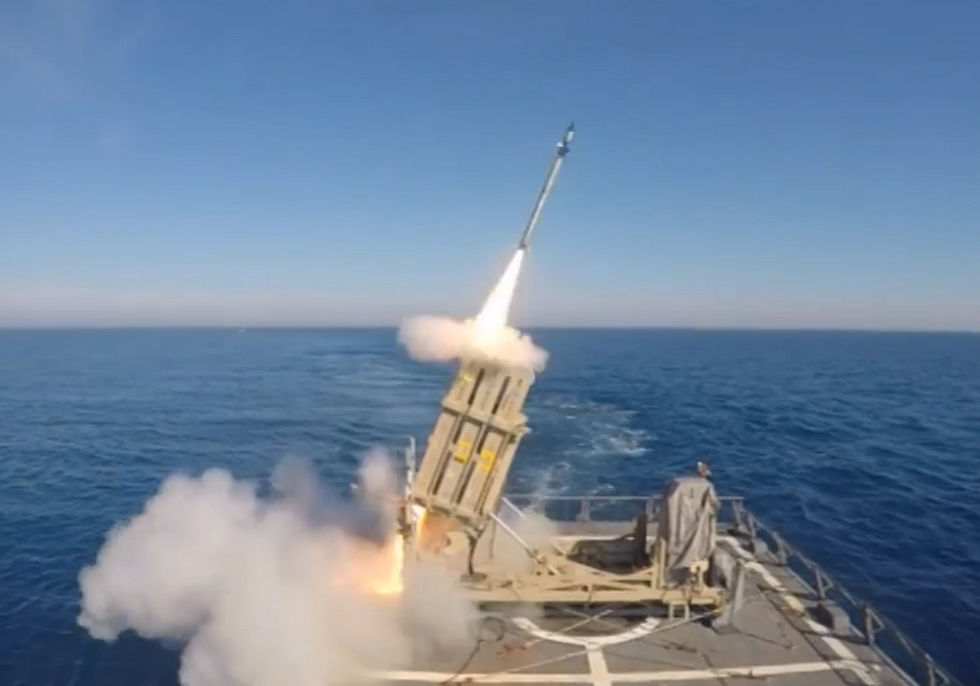 Iron Dome successfully launches from a moving ship (Photo: IDF Spokespersons Unit)
