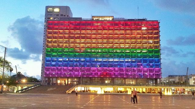 עיריית תל אביב התקשטה בצבעי הגאווה (צילום: כפיר סיון )