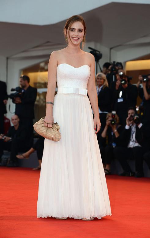 שמלות הכלה לא עוצרות בקאן. הדס ירון בשמלת כלה של ליהי הוד בפסטיבל ונציה בשנת 2012 (צילום: gettyimages)