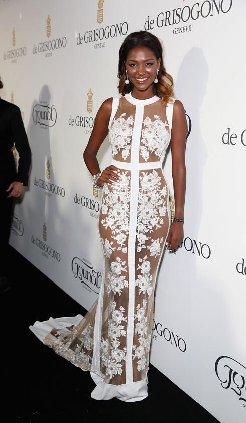 גם היא אימצה את הצבע הלבן לפסטיבל קאן. טיטי איינאו בשמלה של דני מזרחי (צילום: gettyimages)