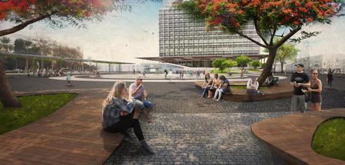 המשרד שתכנן את חידוש הנמל והטיילת משנה את המלבן המפורסם (הדמיה: מייזליץ כסיף)