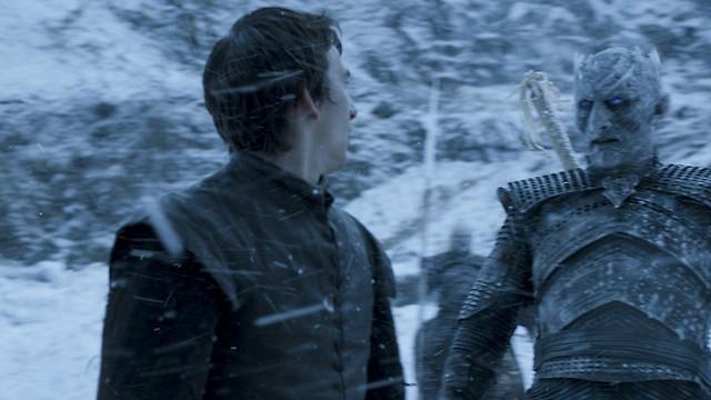 המפגש בין בראן למלך הלילה בחיזיון שלו (צילום: באדיבות yes) (צילום: באדיבות yes)