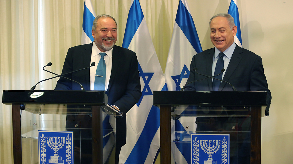 PM Netanyahu and his new Defence Minister. Will Lieberman be willing to pay the price for his vision? (Photo: Gil Yohanan)
