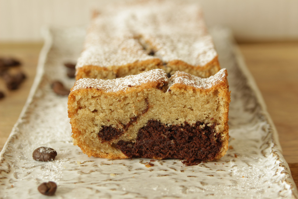 עוגת שיש קפה-שוקולד (צילום: מיכל שמיר)
