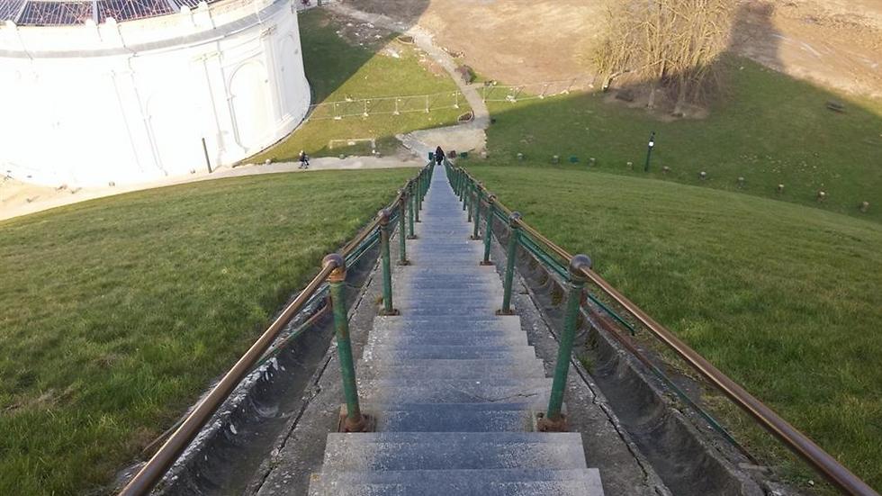 המדרגות בדרך לפסל האריה הגדול: 226 ליתר דיוק (צילום: זהבית שאשא) (צילום: זהבית שאשא)