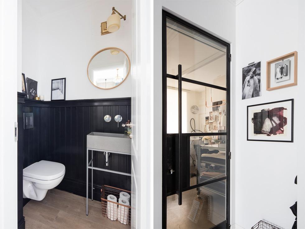הצצה פנימה מראה על סקלת צבעים אחידה ומגובשת בכל חלקי הדירה (צילום: אביעד בר נס)