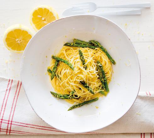 ספגטי קפליני בלימון (צילום: יוסי סליס)