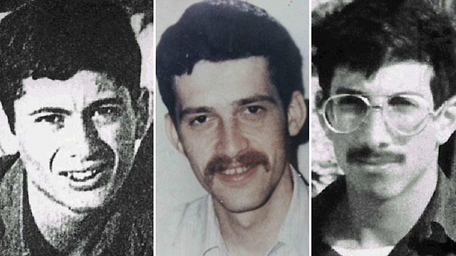 Zachary Baumel, Zvi Feldman and Yehuda Katz, who went missing in 1982