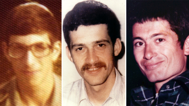 The missing soldiers, Tzvika Feldman, Yehuda Katz, and Zacharia Baumel (Photo: Avigayil Uzi, Amit Shabi)