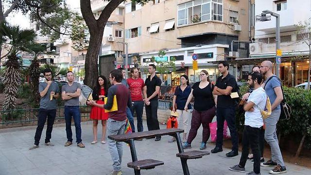 סיור ארגון הנוער הגאה (צילום: איגי) (צילום: איגי)