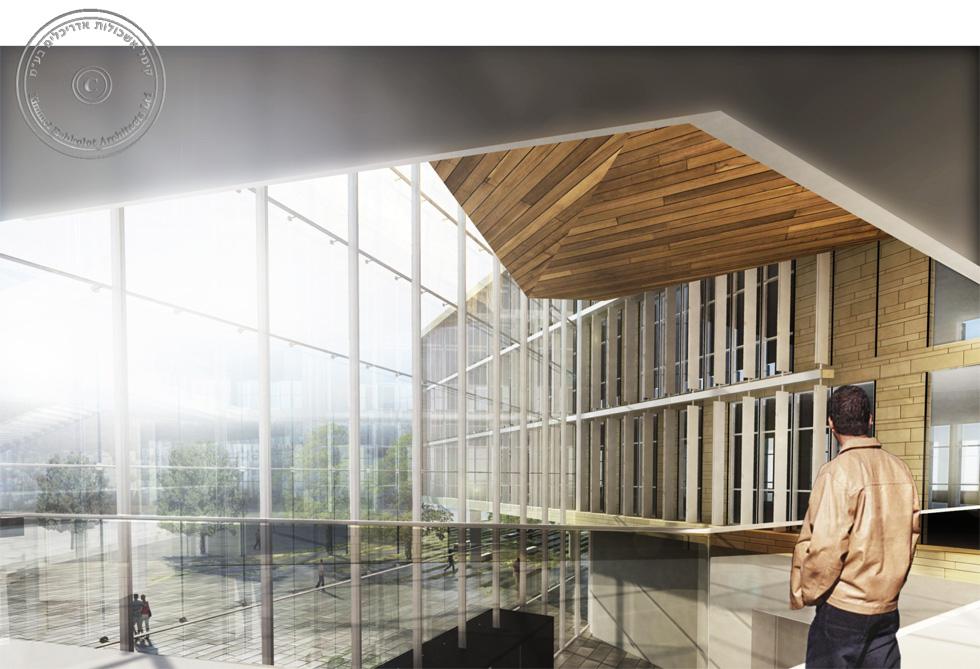 המשרד ניגש גם לתחרות לתכנון בניין העירייה של מודיעין. כמו משרדים נוספים שניגשו - הוא השקיע לשווא: התחרות בוטלה (הדמיה: קימל אשכולות אדריכלים)