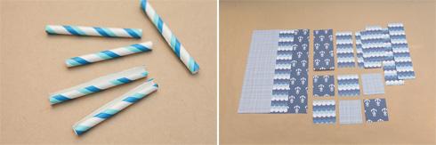 גוזרים את הקשיות והדפים הצבעוניים בגדלים המתאימים (צילום: אמיר פרג', הסטודיו של אמיר)