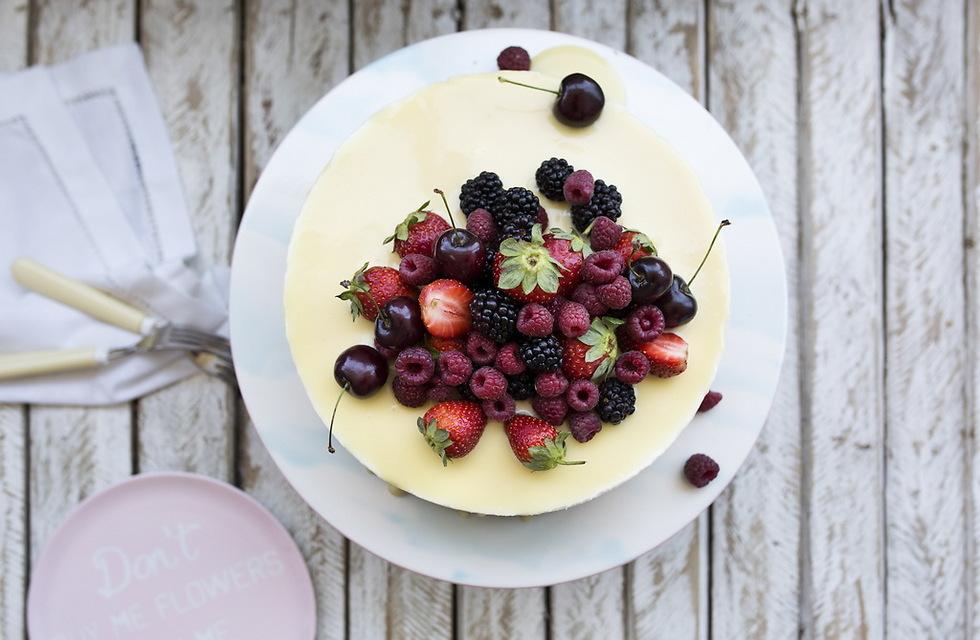 עוגת גבינה ושוקולד לבן (צילום: אלון מסיקה) (צילום: אלון מסיקה)
