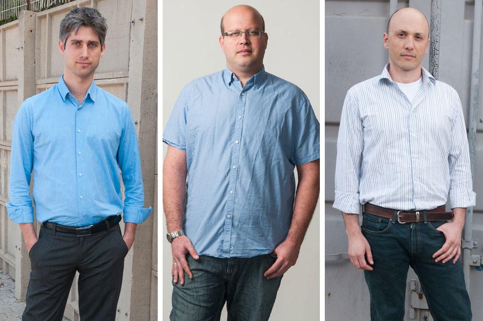 לגברים אין עם מי לדבר. מימין: אריאל אוני, רועי טלמור ויובל גילברד (צילום: עדי אדר)