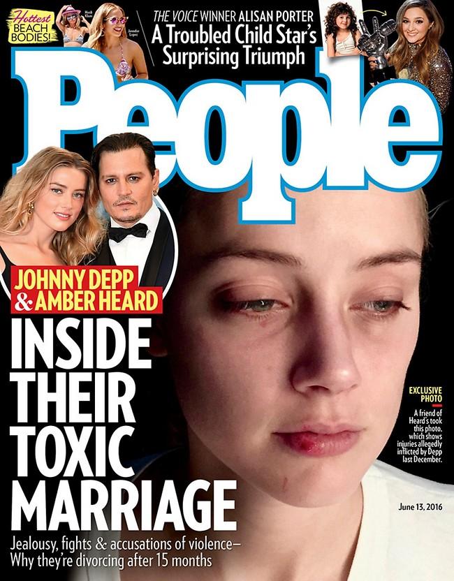 """מגזין People העניק הצצה אל תוך """"הנישואים הרעילים"""" של דפ והרד"""