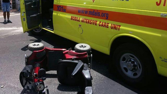 """קלנועיות - מספר הנפגעים גדל פי 3 (צילום: תיעוד מבצעי מד""""א) (צילום: תיעוד מבצעי מד"""