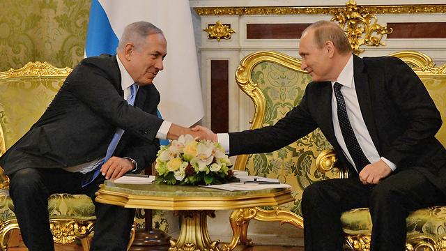 """נתניהו ופוטין בפגישתם במוסקבה (צילום: חיים צח, לע""""מ) (צילום: חיים צח, לע"""