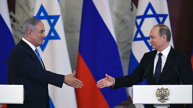Netanyahu and Putin in Moscow (Photo: AFP) (Photo: AFP)