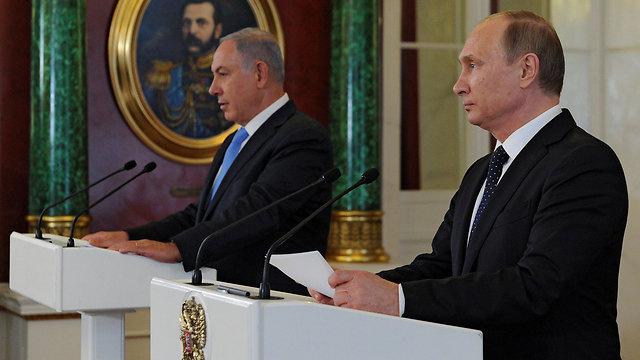 פוטין ונתניהו. הנשיא הרוסי נזף בראש הממשלה (צילום: רויטרס) (צילום: רויטרס)