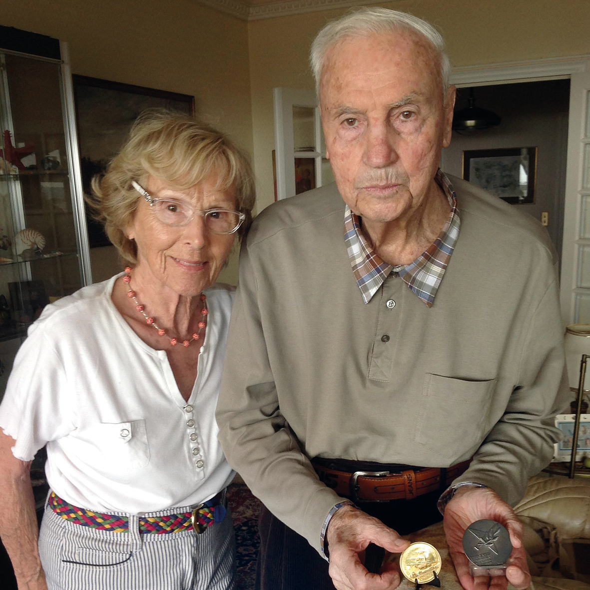 Michel Bacos, right, and his wife Rosemary.