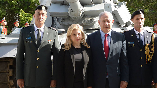 """""""רעייתי ואני השתתפנו בטקס מרגש להשבת הטנק שנפל בשבי הסורי"""". נתניהו בטקס במוסקבה (צילום: חיים צח, לע""""מ) (צילום: חיים צח, לע"""