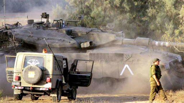 Gilad Shalit's tank (Photo: Reuters)