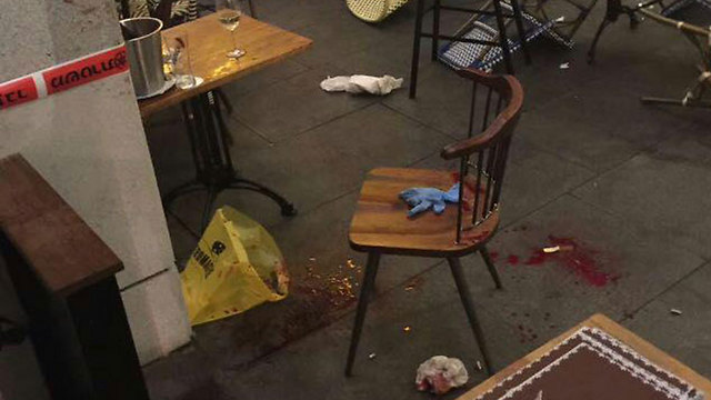 Scene of the attack at Max Brenner.