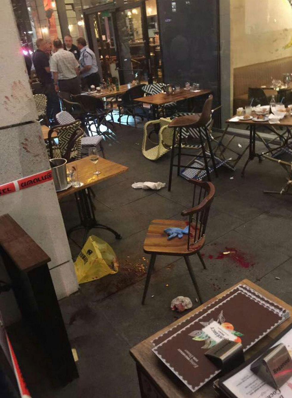 Blood at Benedict restaurant
