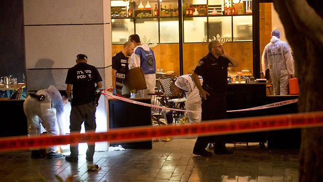 The scene of the attack at Max Brenner (Photo: AP)