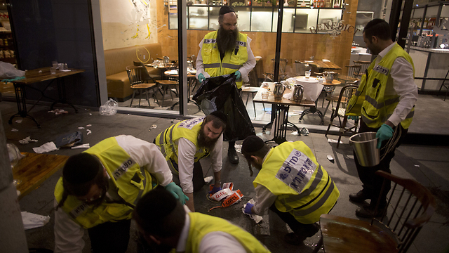 The scene of the attack at Tel Aviv's Sarona Market. (Photo: Getty Images)
